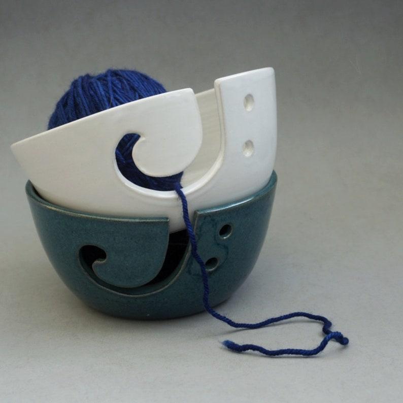 Yarn bowls  multiple colors  Handmade stoneware ceramics image 0