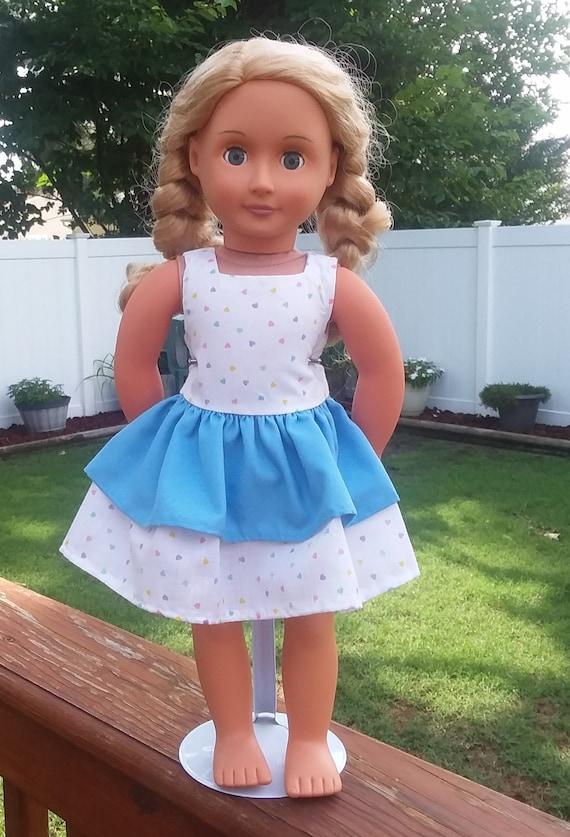 6cd724ca439e Pretty summer dress for 18 dolls fits American Girl | Etsy