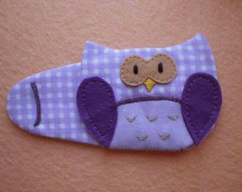 Purple Owl Eye Patch for Glasses