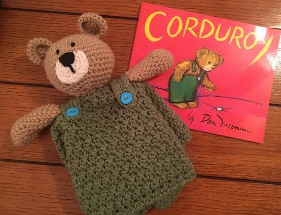Corduroy Bear Lovey Crochet Lovey Crochet Lovey Teddy Etsy