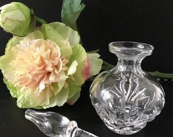 Vintage 1970's Crystal glass perfume bottle,Vintage perfume bottle,Vintage dressing table decor