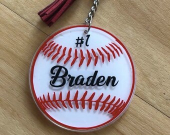 Custom Baseball Keychain