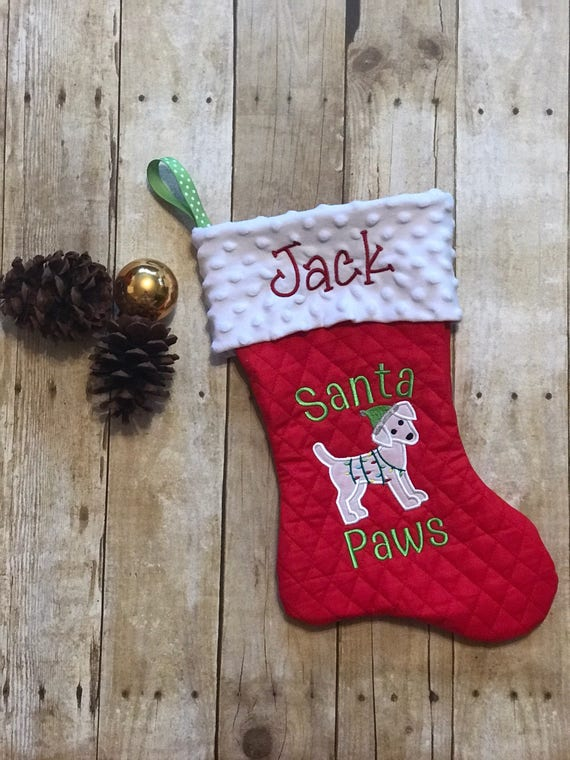 Personalised Yellow Labrador Dog Christmas Treat Santa Xmas Sack Pet Stocking