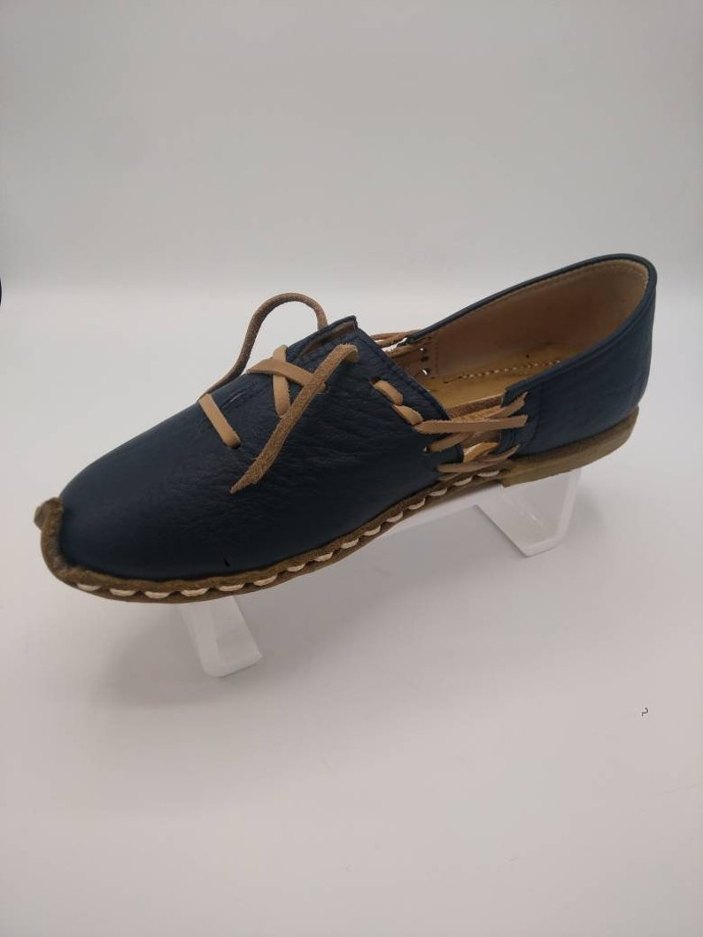 Men/'s Loafers Custom Made Shoes Leather Shoe Lace Mocassins Men/'s Leather Flats Oxfords Tie Shoes Medieval Sandals