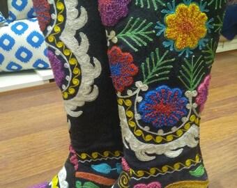 Suzani Hand Made Covboy Boots.Custom Made.