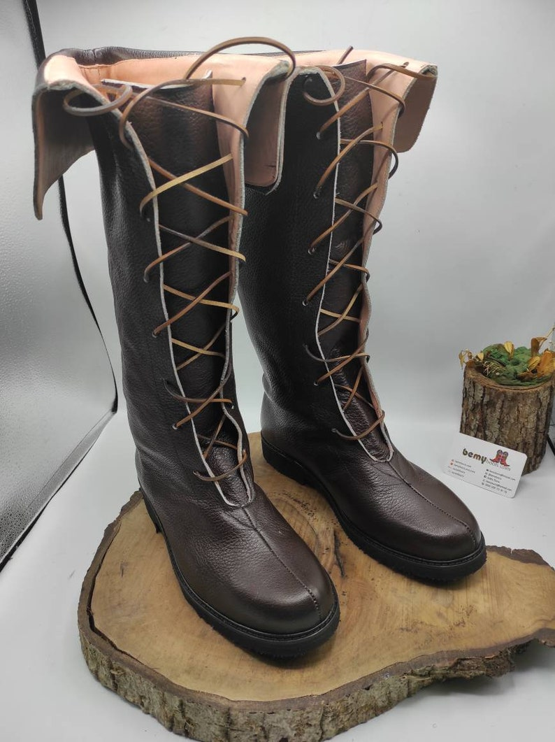 Mens Vintage Shoes, Boots | Retro Shoes & Boots Viking Boots Leather Boots Mens Boots Medieval Boots Custom Made Boho Style Flats Hippie Boots FREE SHIPPING $229.00 AT vintagedancer.com