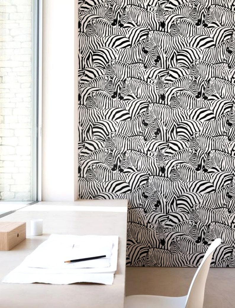 Zebra Print Behang.Zebra Print Behang Verwisselbare Wallpaper Self Adhesive Wallpaper Tropische Wand Decor Jungle Wandbekleding Jw070