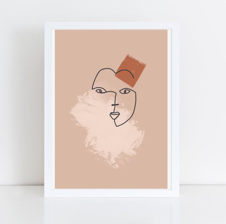Giclee Print illustration  thick 100% cotton Beige