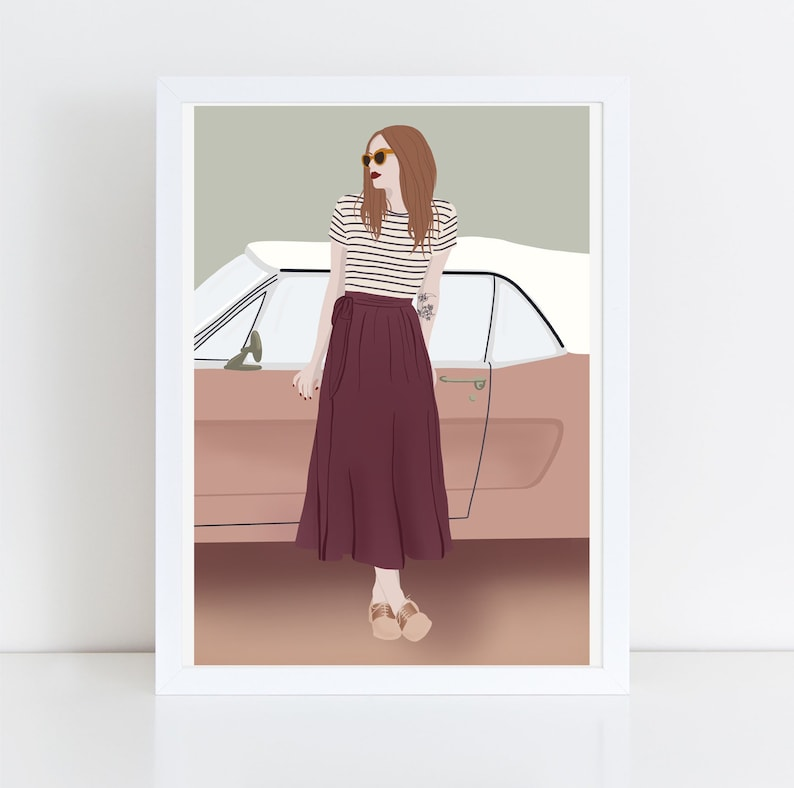 Giclee Print illustration  thick 100% cotton image 0