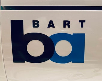 BART logo vinyl decal sticker - Bay Area Rapid Transport