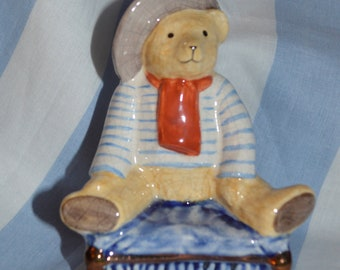 Staffordshire Teddy - Sailor Teddy- Rushton Ceramics (1960's)