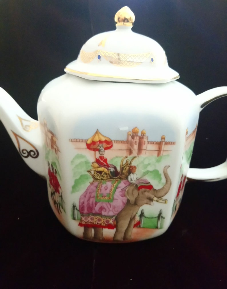 The INDIAN TEMPLE TEAPOT vintage teapot from the first Teapots series by Compton and Woodhouse