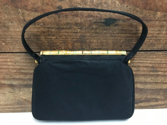 Vintage Pocketbooks Gifts for Her Christmas Gift Altman Mirror Coblentz Origina Black Leather Purse with Change Purse and B 1950/'s Rare