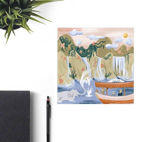 Jungle Cruise Disney Art Print Disney Christmas Gift Retro Etsy