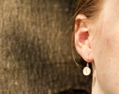 Real silver birch drop earring - nature jewelry - earrings with birch pattern - minimalistic and simple jewellery - present for her