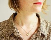 Real silver necklace - charm small - nature jewellery - pendant with birch wood - handmade - simple jewellery- necklace for her