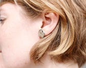 birch bark earrings - nat...