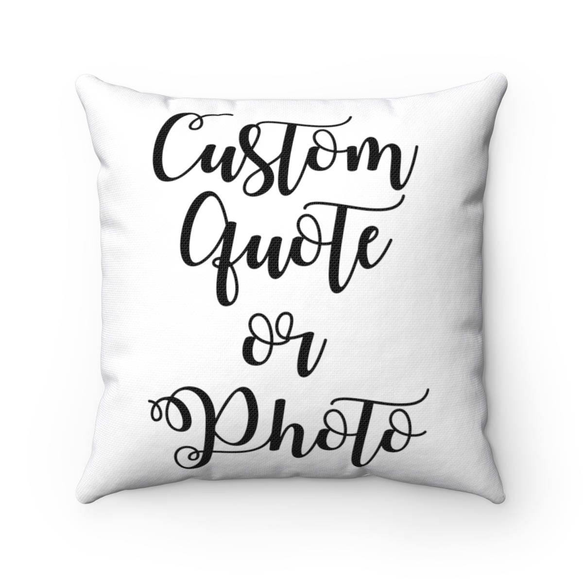 Customized Throw Pillow - Personalized Decorative Pillows - Custom Gifts  for Women Her Sister Mother of the Bride or Groom 03a4faad3