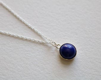 Lapis Blue Sterling Silver Necklace