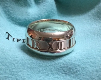 b9d79b57700 SALE, LIKE NEW!!! Stunning Tiffany & Co. Sterling Silver Atlas Band Ring -  Size 5
