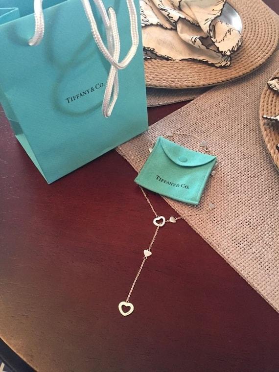 9bcb37ac8e0 MINT Beautiful Tiffany & Co. Sterling Silver Heart Lariat | Etsy