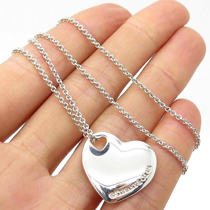 d2679d7345ef7 SALE!! LIKE NEW!! Stunning Authentic Tiffany & Co Sterling Silver Double  Heart Necklace on an 16