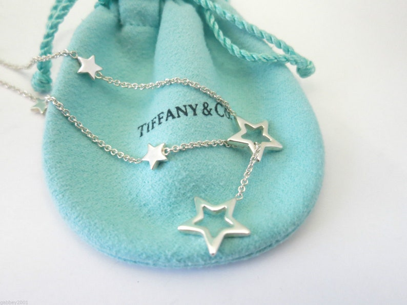 bf18fb37f091b RETIRED, LIKE NEW!! Stunning Tiffany & Co. Sterling Silver Star Lariat  Necklace