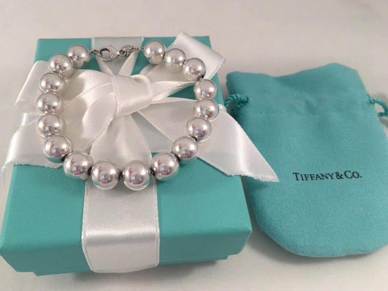 2ada975db Iconic Tiffany & Co. Sterling Silver Ball Bead Bracelet 7.5   Etsy