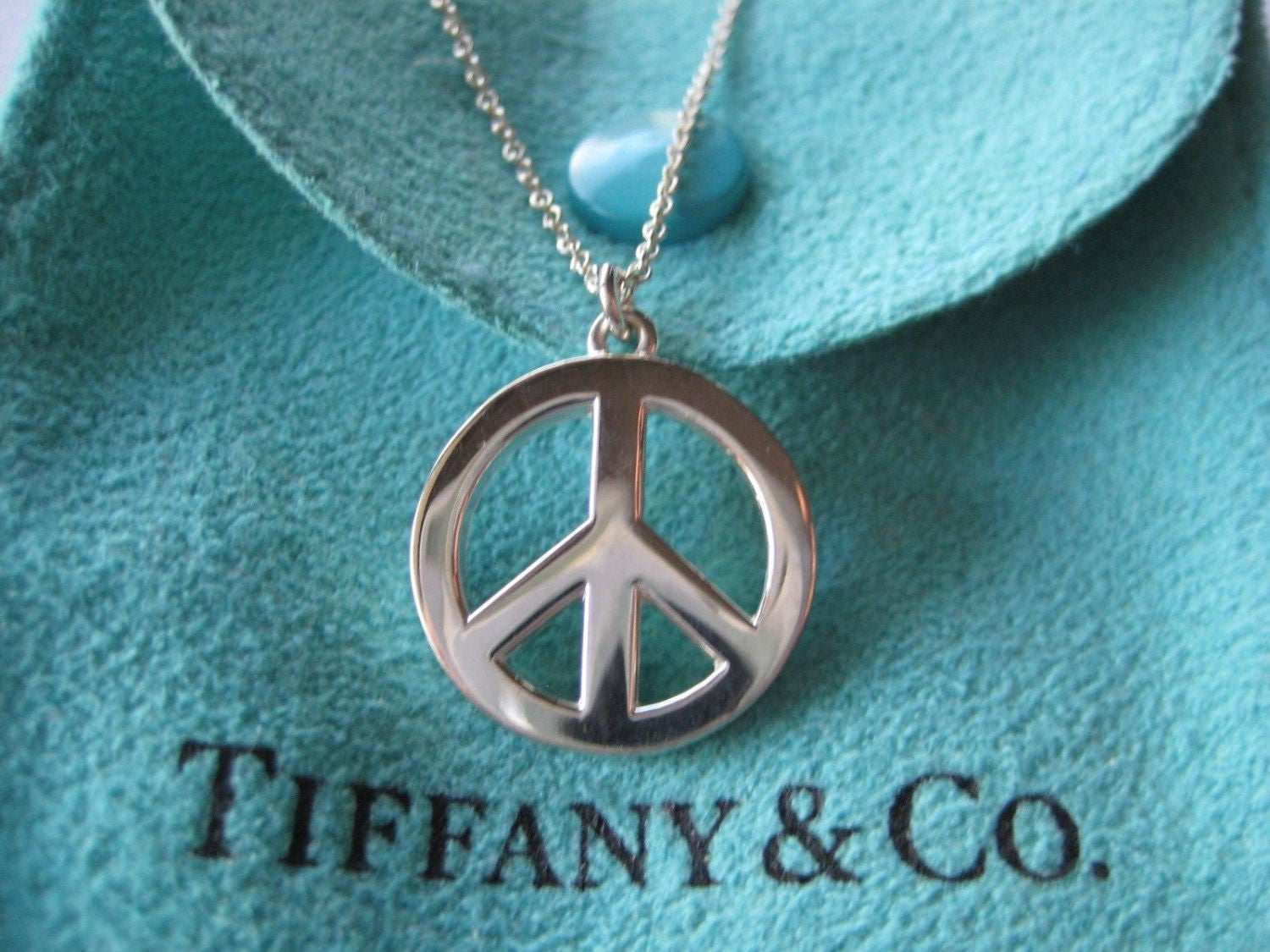 ef5f40371 Timeless Authentic Tiffany & Co. Sterling Silver Large Peace | Etsy