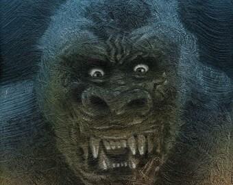 King Kong - Gemälde Painting - Original
