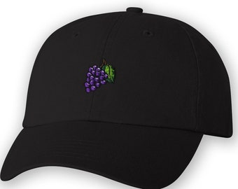 ea461d5170b Grape Embroidered Unstructured Dad Cap.