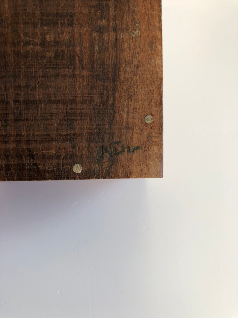 trinket box medium vintage carved wood box; indian carved wood jewelry box