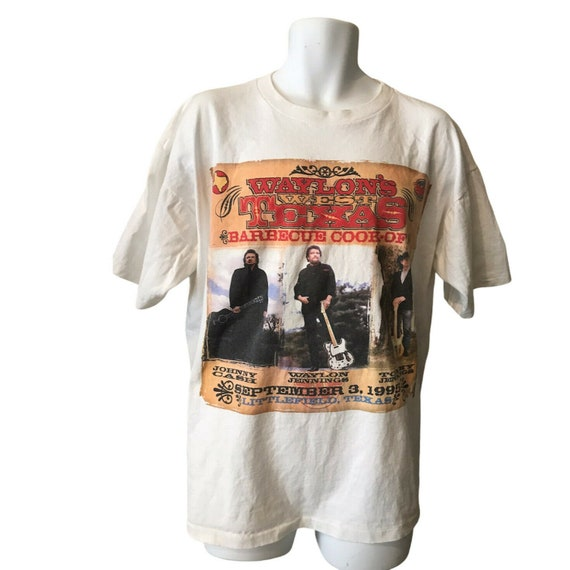 XL T-Shirt Waylon Jennings Johnny Cash Texas Barbe