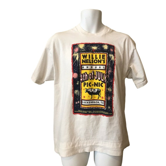 Willie Nelson XL T-Shirt Fourth Of July Picnic Luc