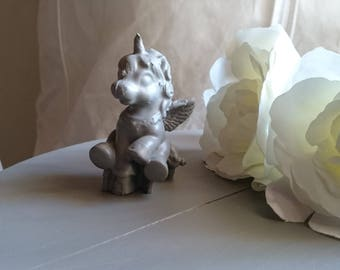 Carefree childhood. Pretty Unicorn plaster for shabby decor or child's room