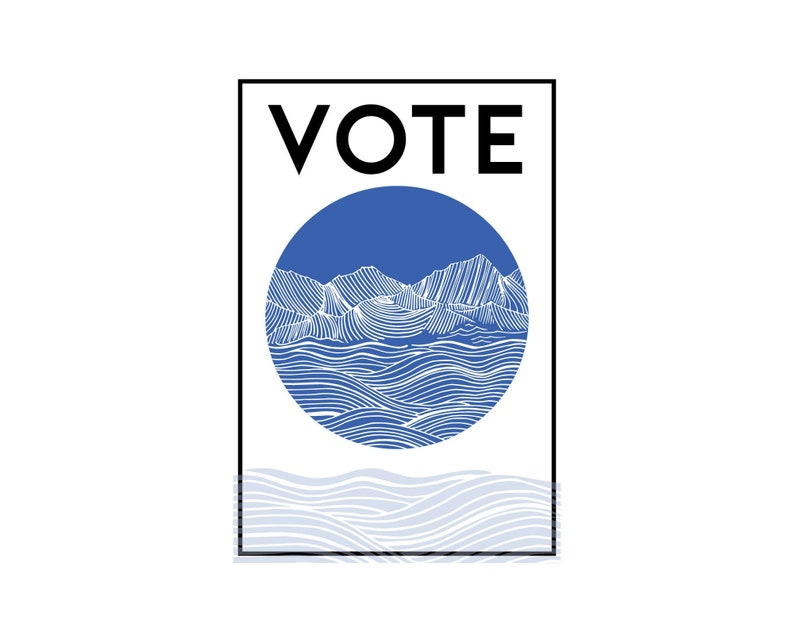 POSTCARD PACKS Vote Original Artwork Blue Mountains Voters image 0