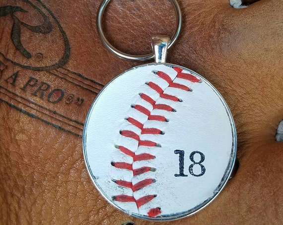 Baseball Bag Pull, Baseball Zipper Pull, Baseball Team Gifts, Real Baseball Zipper/Bag Pull, Sports Bag Pull, Sports Zipper Pull