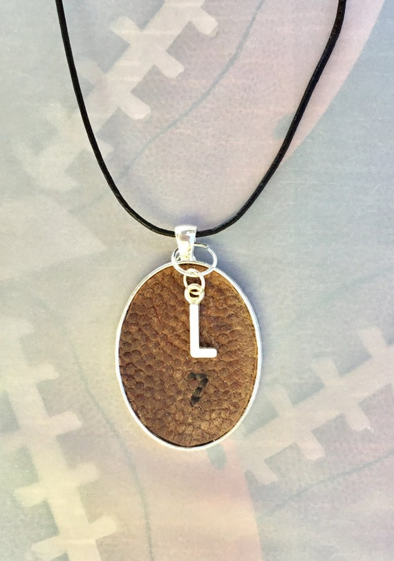 Football Necklace, Kids Football Necklace, Personalized Football Necklace, Real Football Necklace, Football Jewelry,Leather Football Jewelry