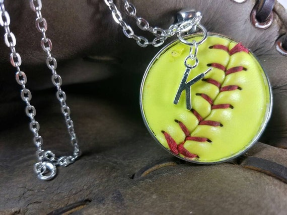 Kids Softball Necklace, Kids Softball Jewelry, Kids Personalized Softball Necklace, Softball Team Gifts,  Softball Jewelry