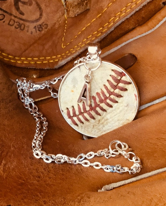 Genuine Baseball Jewelry,Genuine Baseball Necklace, Baseball Team Gifts, Kids Baseball Necklace, Personalized Baseball Necklace and Jewelry,