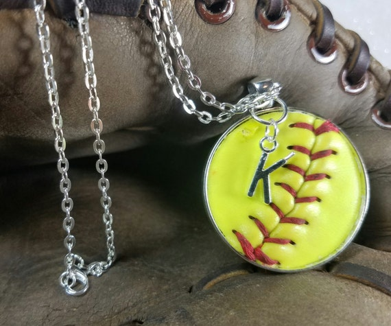 Softball Necklace, Softball Jewelry, Personalized Softball Necklace, Personalized Softball Jewelry, Softball Team Gifts,  Softball Jewelry