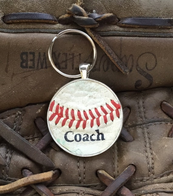 Baseball 'Coach' Key Ring, Personalized 'Coach' Key Ring, Personalized Baseball Key Ring, Baseball Team Gifts, Baseball Team Key Ring