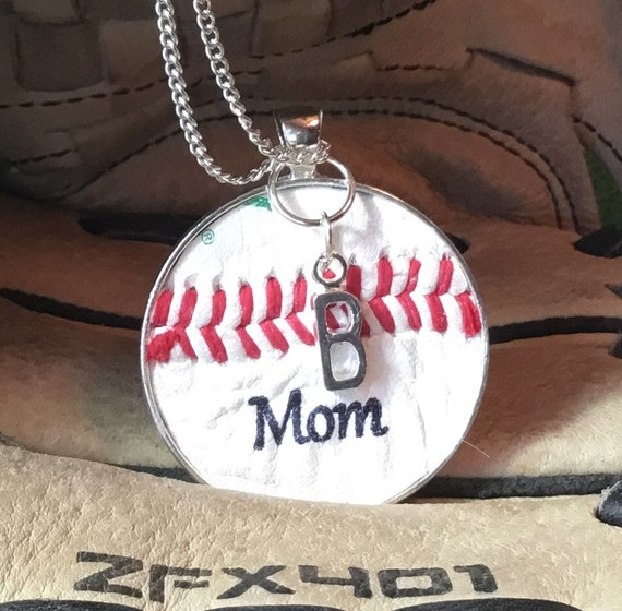 Baseball Mom Jewelry, Baseball Mom Necklace, Baseball Team Gifts, Personalized Baseball Jewelry, Personalized Mom Baseball Necklace