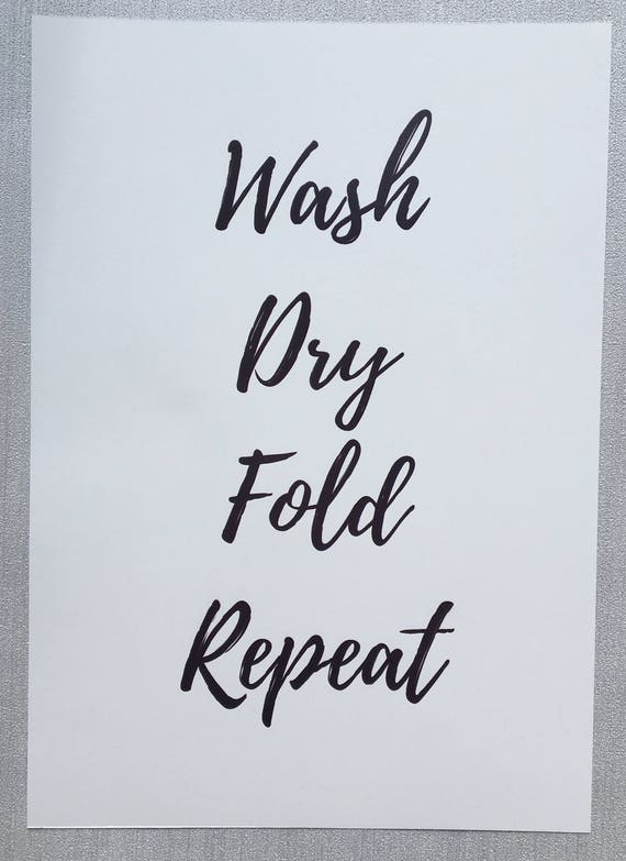 Laundry Quote Print Utility Room Quote Home Print Laundry Etsy