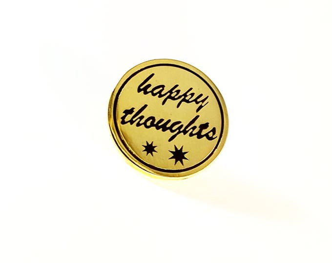 Happy Thoughts lapel pin