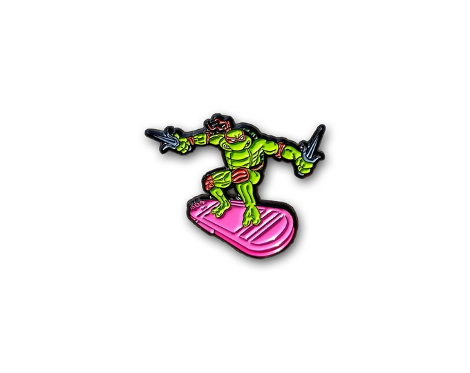 Turtle Surfer lapel pin