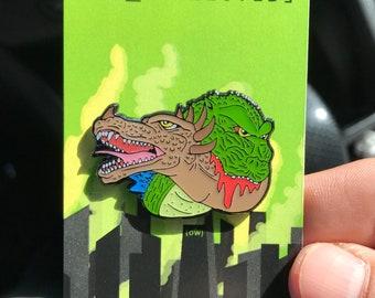 Godzilla vs Anguirus lapel pin