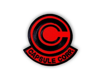 Capsule Corp patch: RED & BLACK
