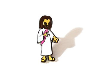 Alien Jesus pin