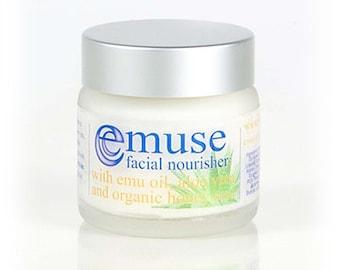 Facial Nourisher with Emu oil, Aloe Vera & Organic Honey 60ml / 2oz
